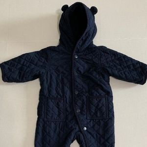 Baby Gap Bear 1 Piece Quilted Outwear 6 -12 months